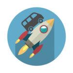 ロケットとミニバン